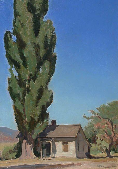 Maynard Dixon, Little Home Carson Nevada, western art, western landscape,