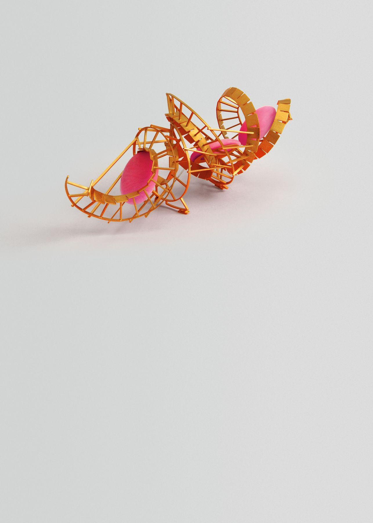 Norman Weber, German, brooch, contemporary jewelry