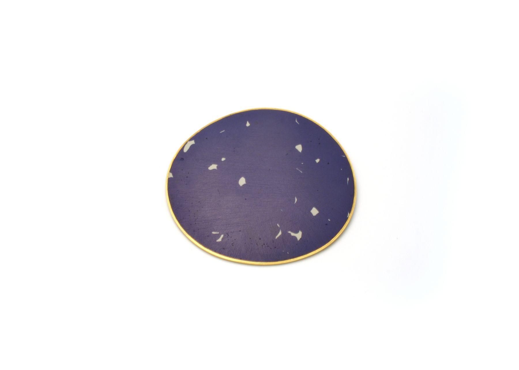 John Iversen enamel brooch