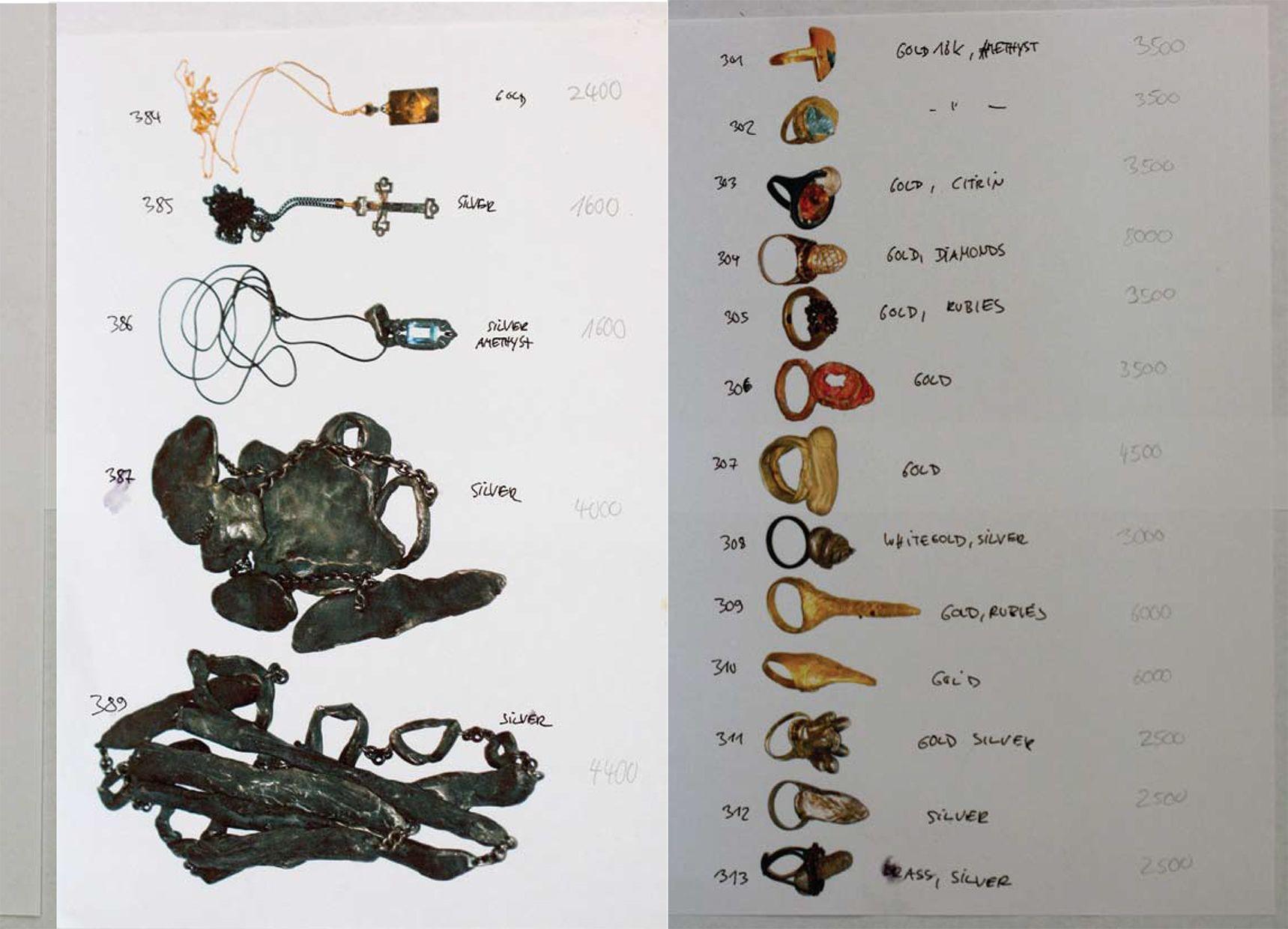 Karl Karl Fritsch, Ninkern catalog