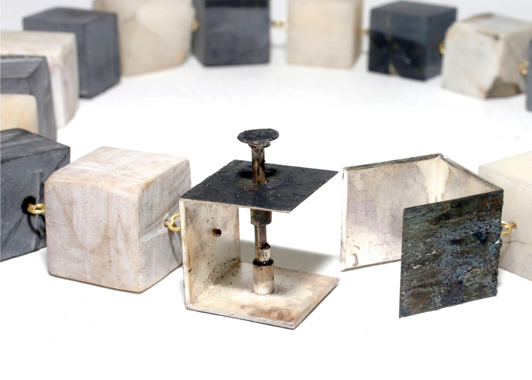 Philip Sajet, jewelry, Dutch Design, gold, enamel, pearls, niello