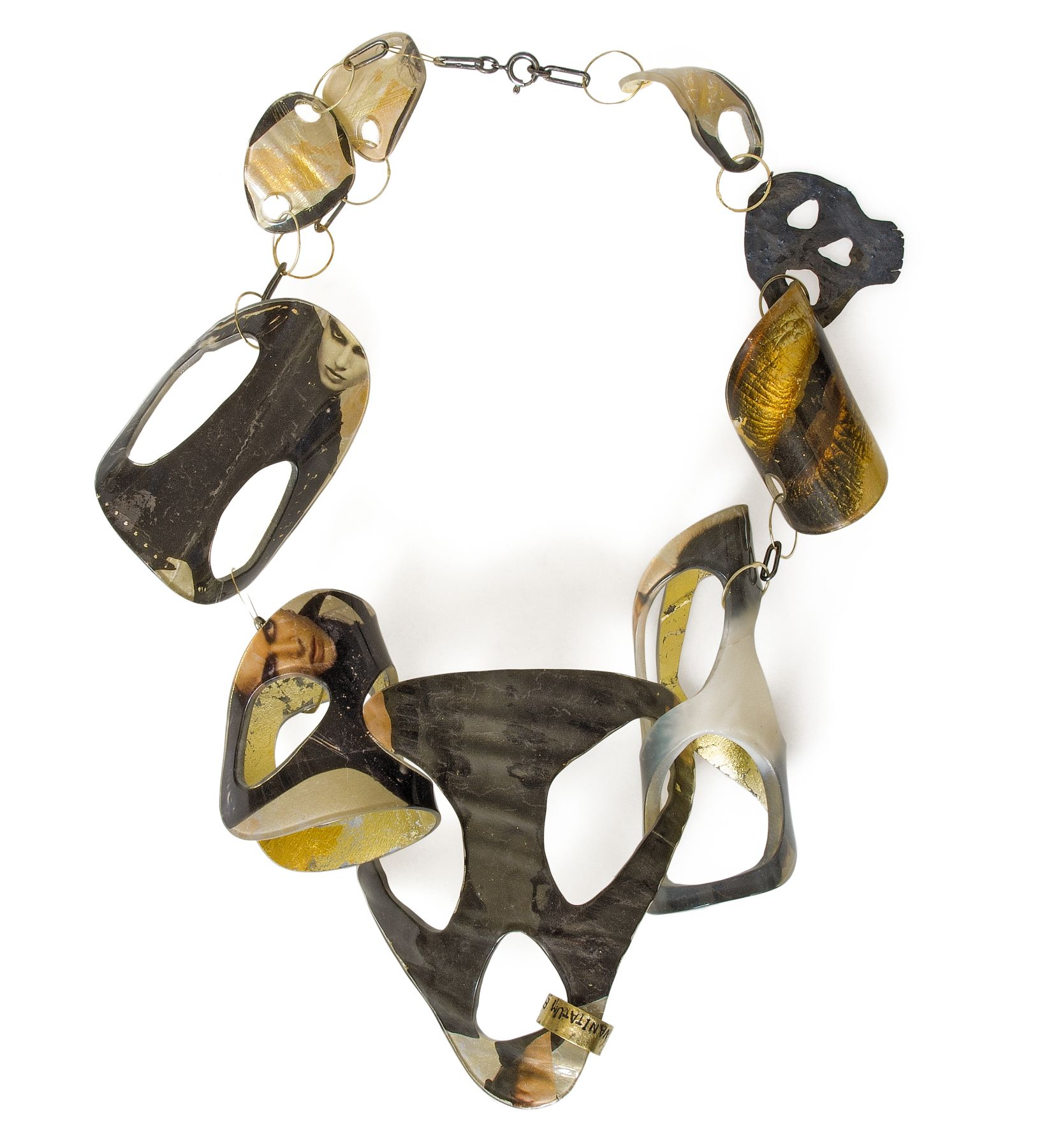 Petra Zimmermann, necklace, acrylic, contemporary jewelry