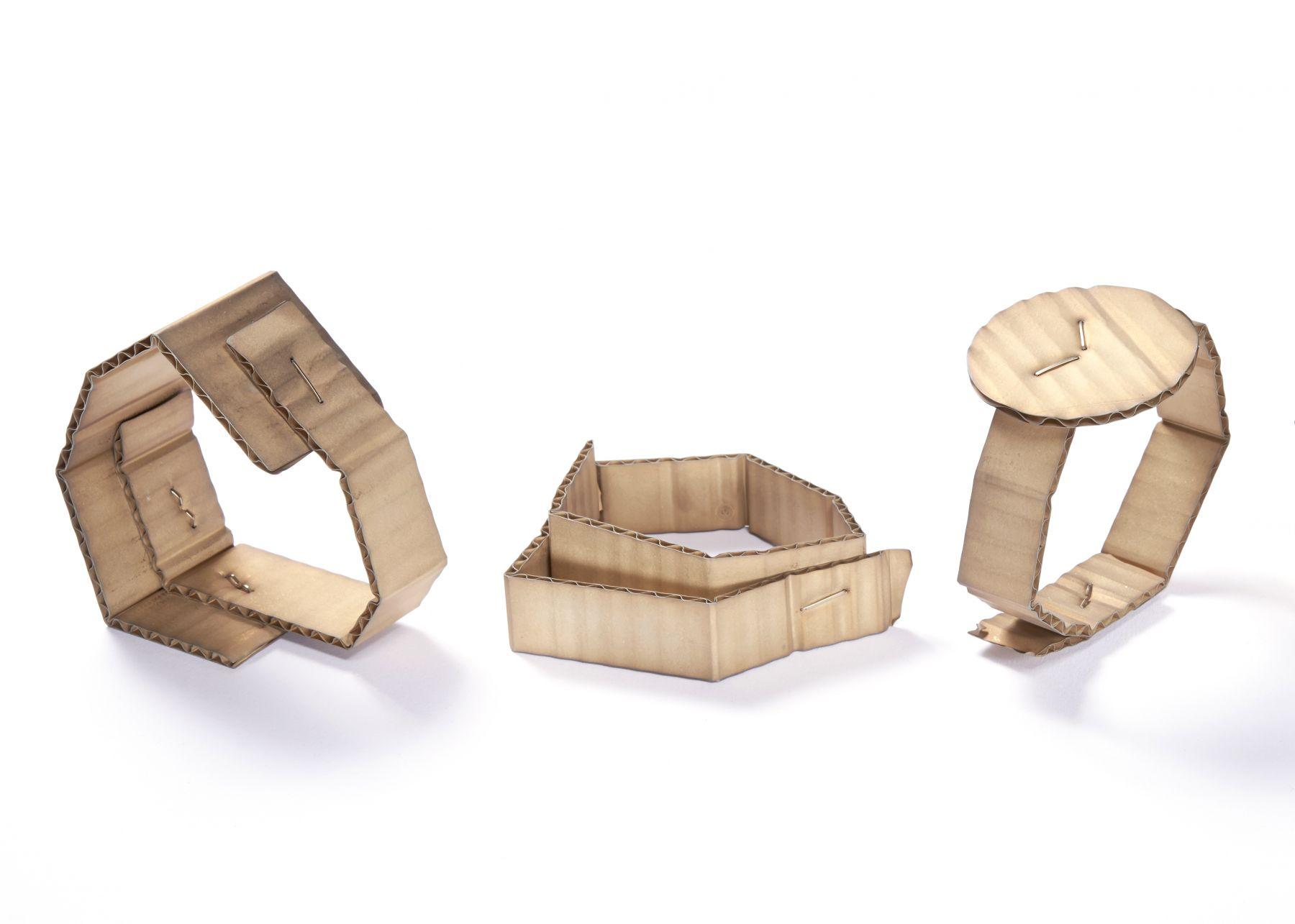 David Bielander Cardboard bracelets