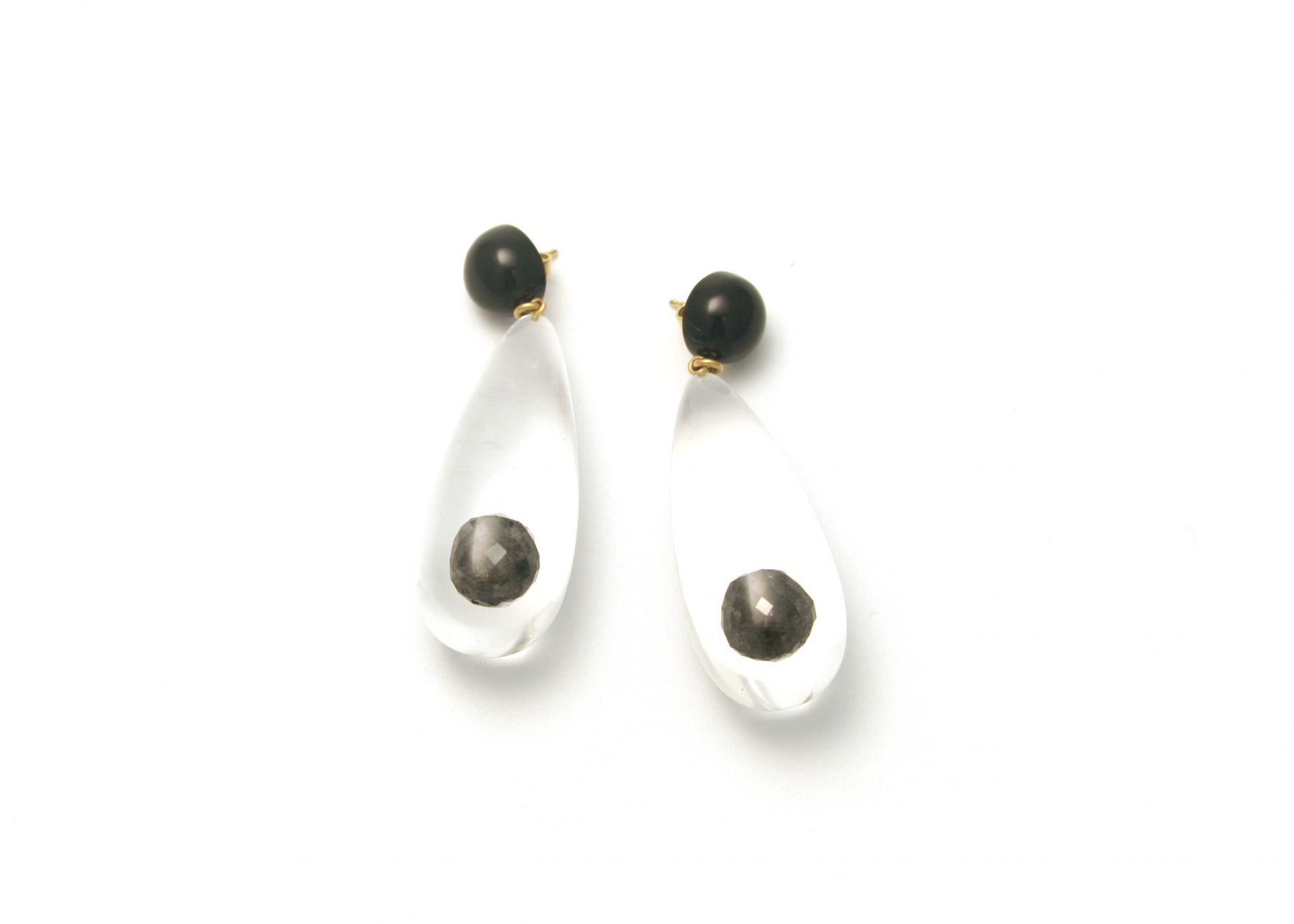 Ted Noten, earrings, black diamonds, Joost Lyppens