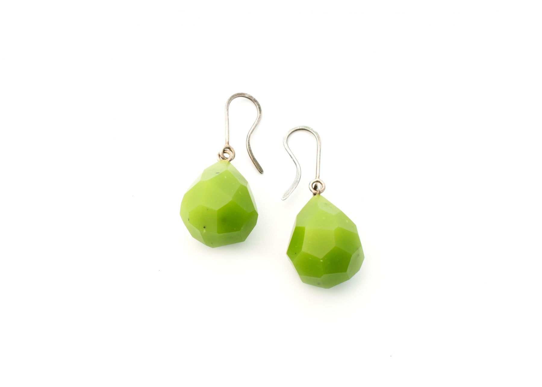 Stephanie Jendis, earrings, faceted, jewelry
