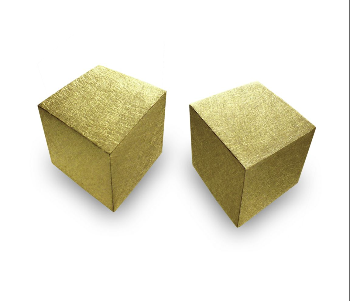 Claude Chavent, Cubes earrings, gold