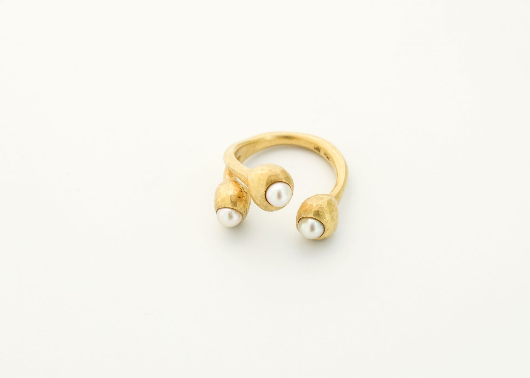 Ute Eitzenhöffer, rings, silver, pearls