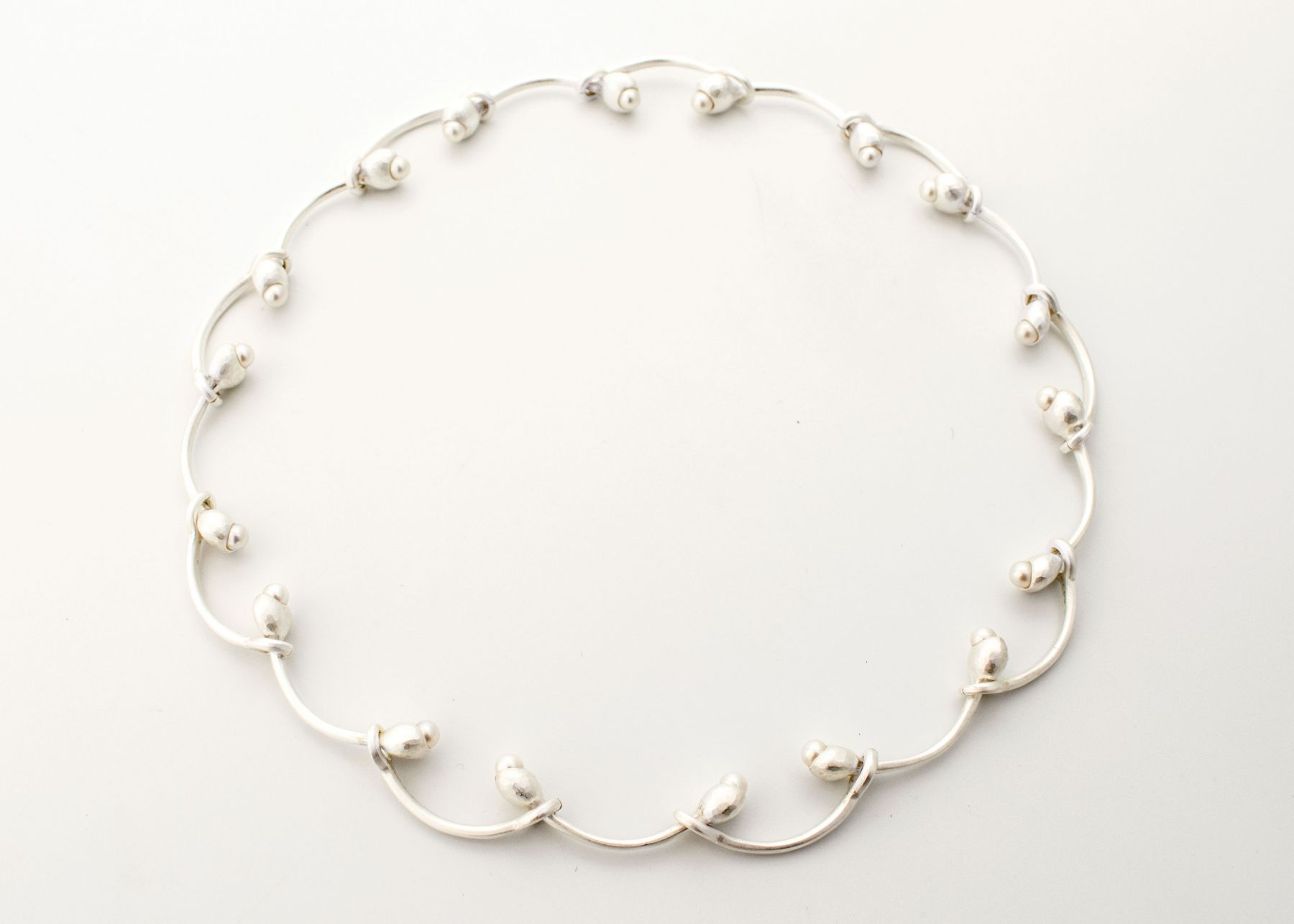 Ute Eitzenhöffer, necklace, silver, pearls