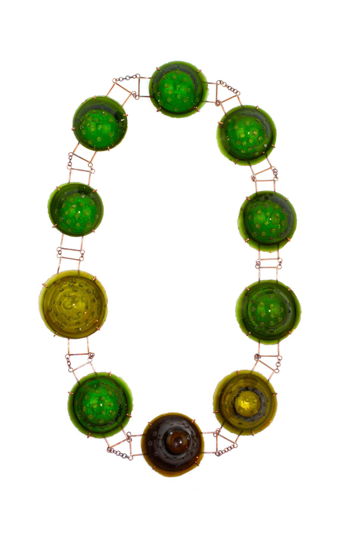 Philip Sajet, glass, contemporary jewelry, necklace