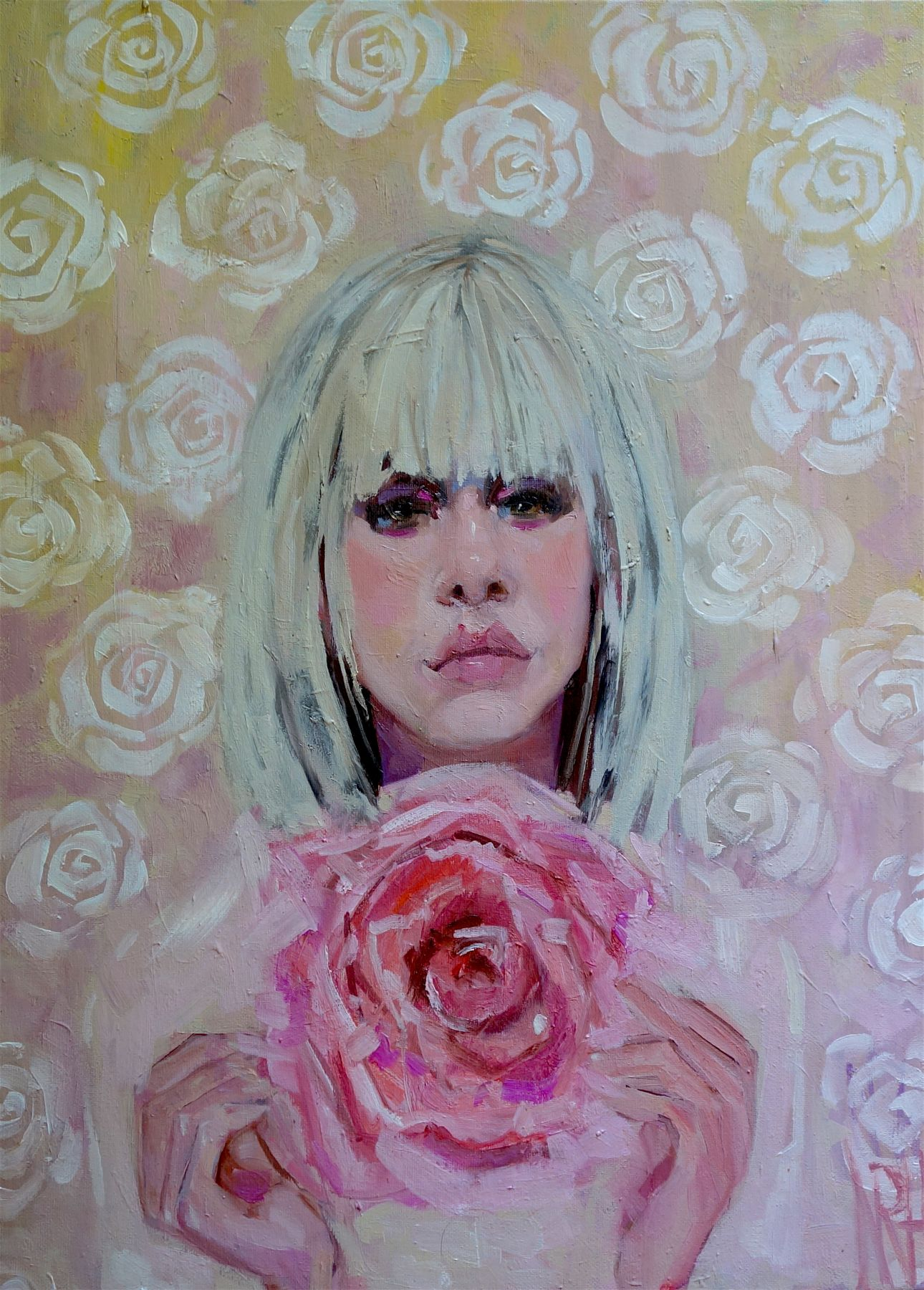 """Pink Roses 18"""" x 24"""""""