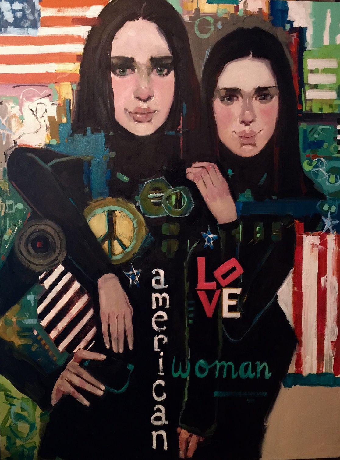 "American Woman 36"" x 48"""
