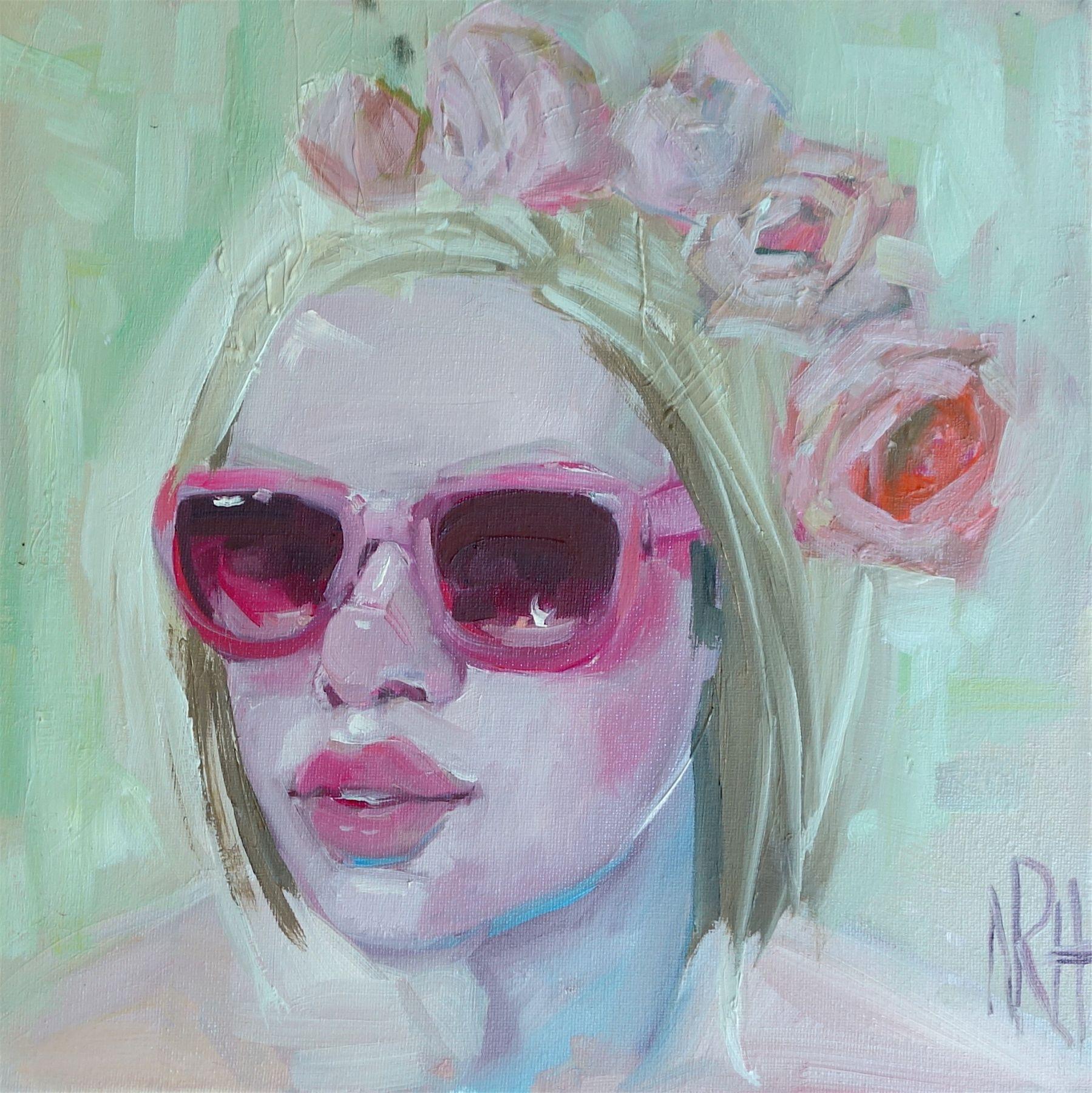 """Pink Rose 12"""" x 12"""""""