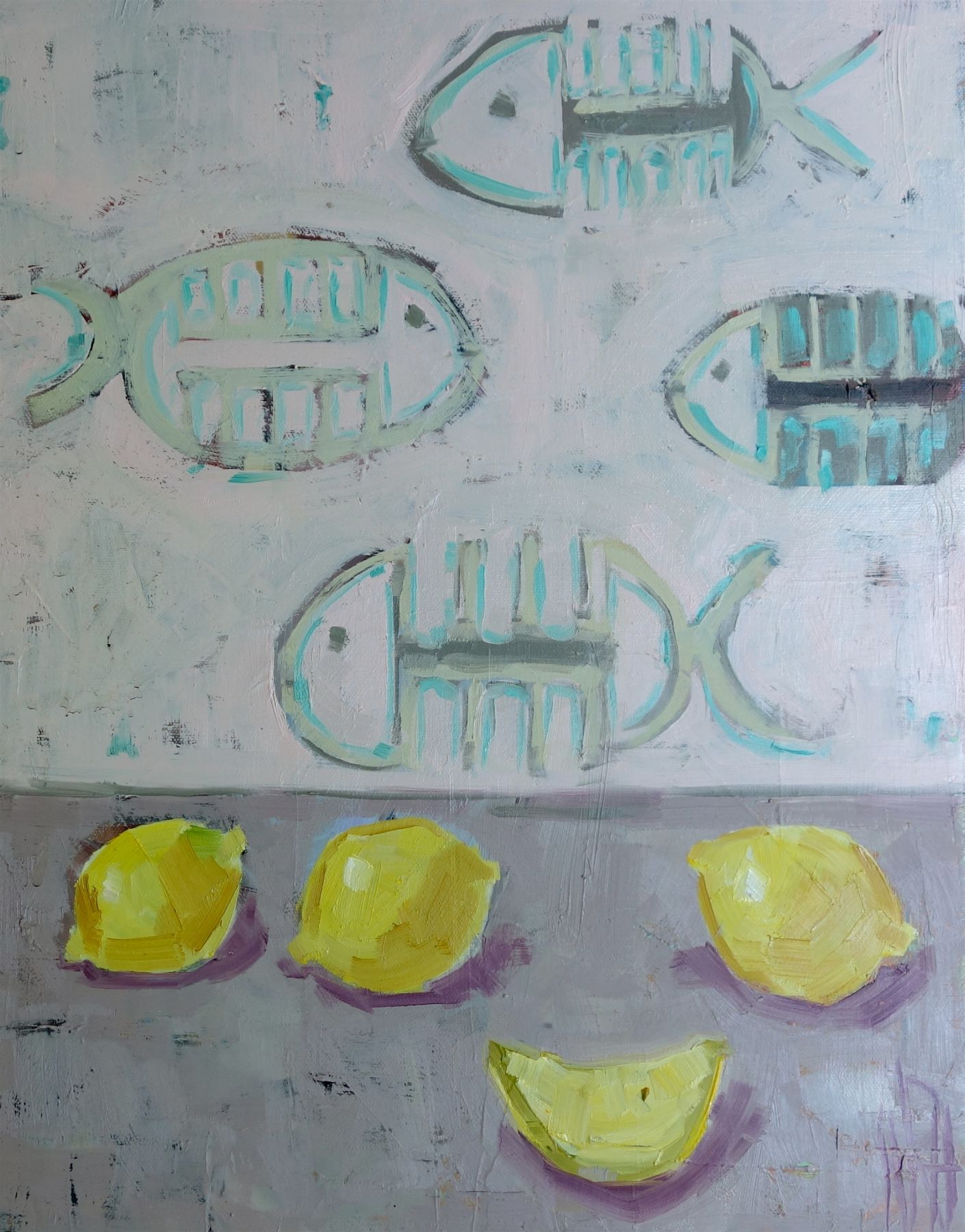 """Fish For Dinner 11"""" x 14"""""""