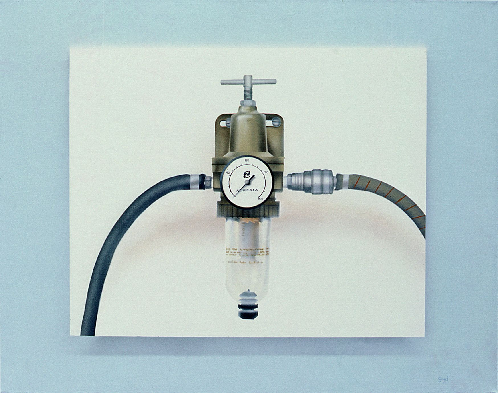 Pressure Gauge, 1972, Acrylic on canvas, privat collection New York