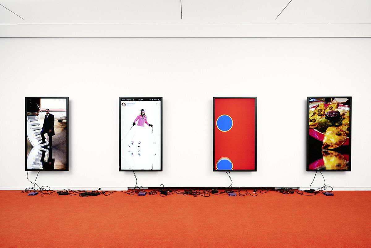 Cory Arcangel, Installation view, Espace Louis Vuitton, München, 2015