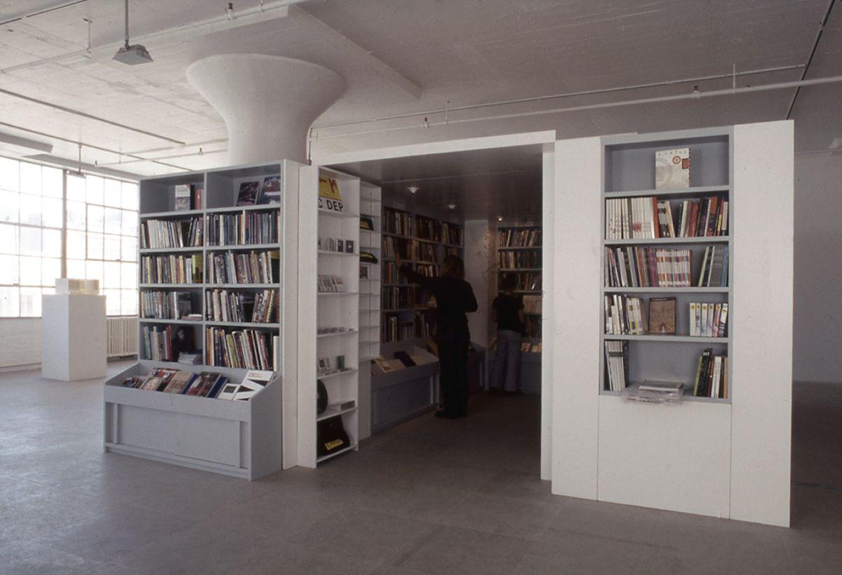 Installation view, The Bookshop Piece, Greene Naftali, New York, 1998
