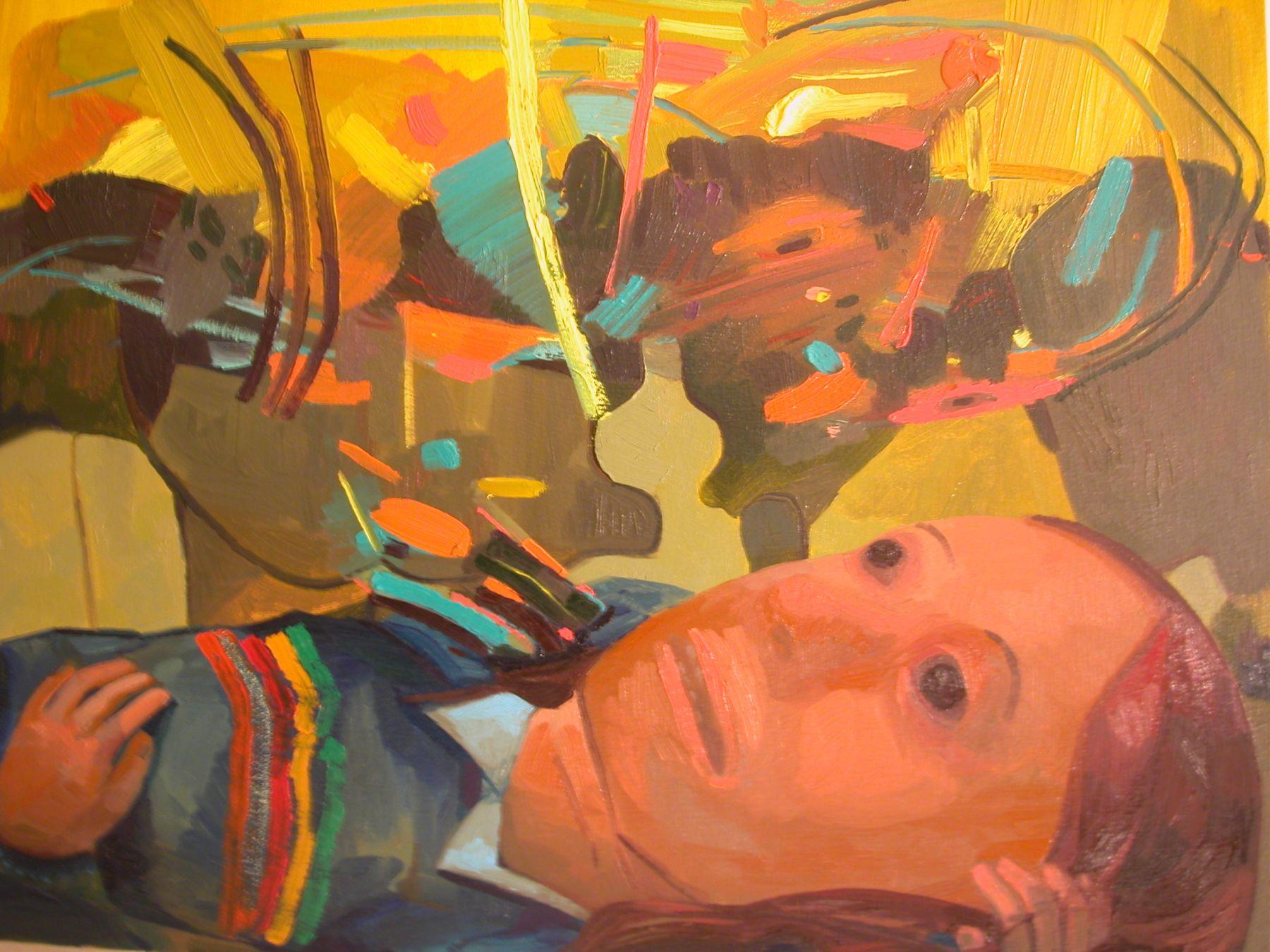 Dana Schutz,  Coma, 2005,  oil on canvas,  28 x 22 inches