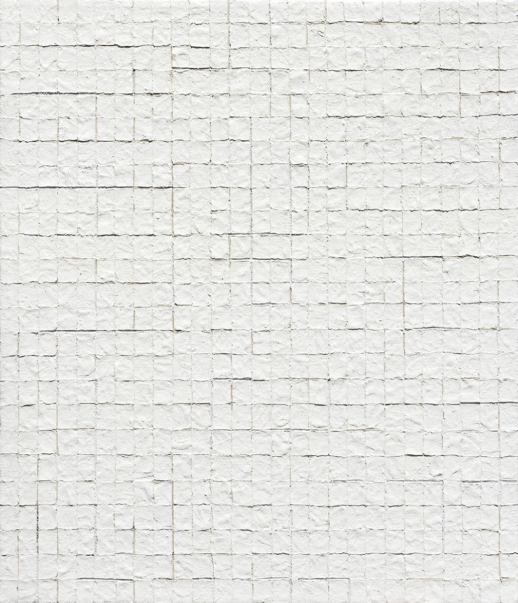 Chung Sang-Hwa Untitled 2015-03-02, 2015 Acrylic and kaolin on canvas 20 7/8 x 17 7/8 inches (53 x 45.5 cm)