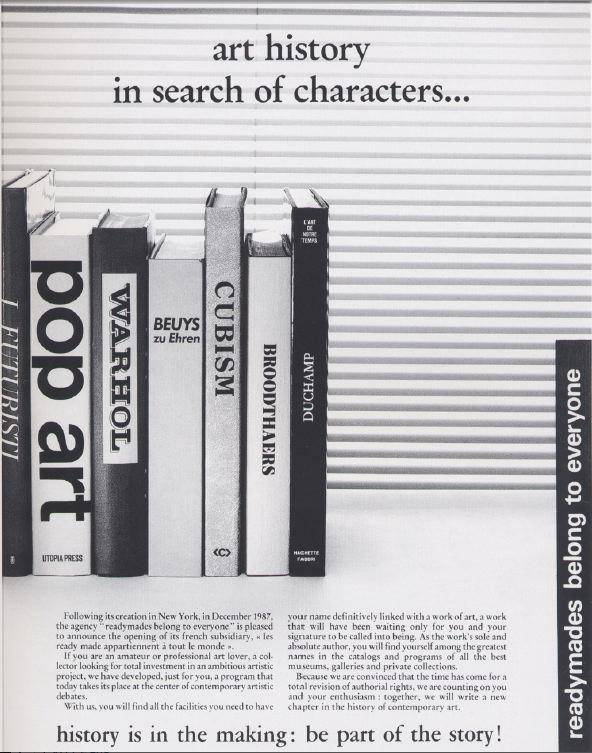 readymades belong to everyone®, advertising, advertising, 1988