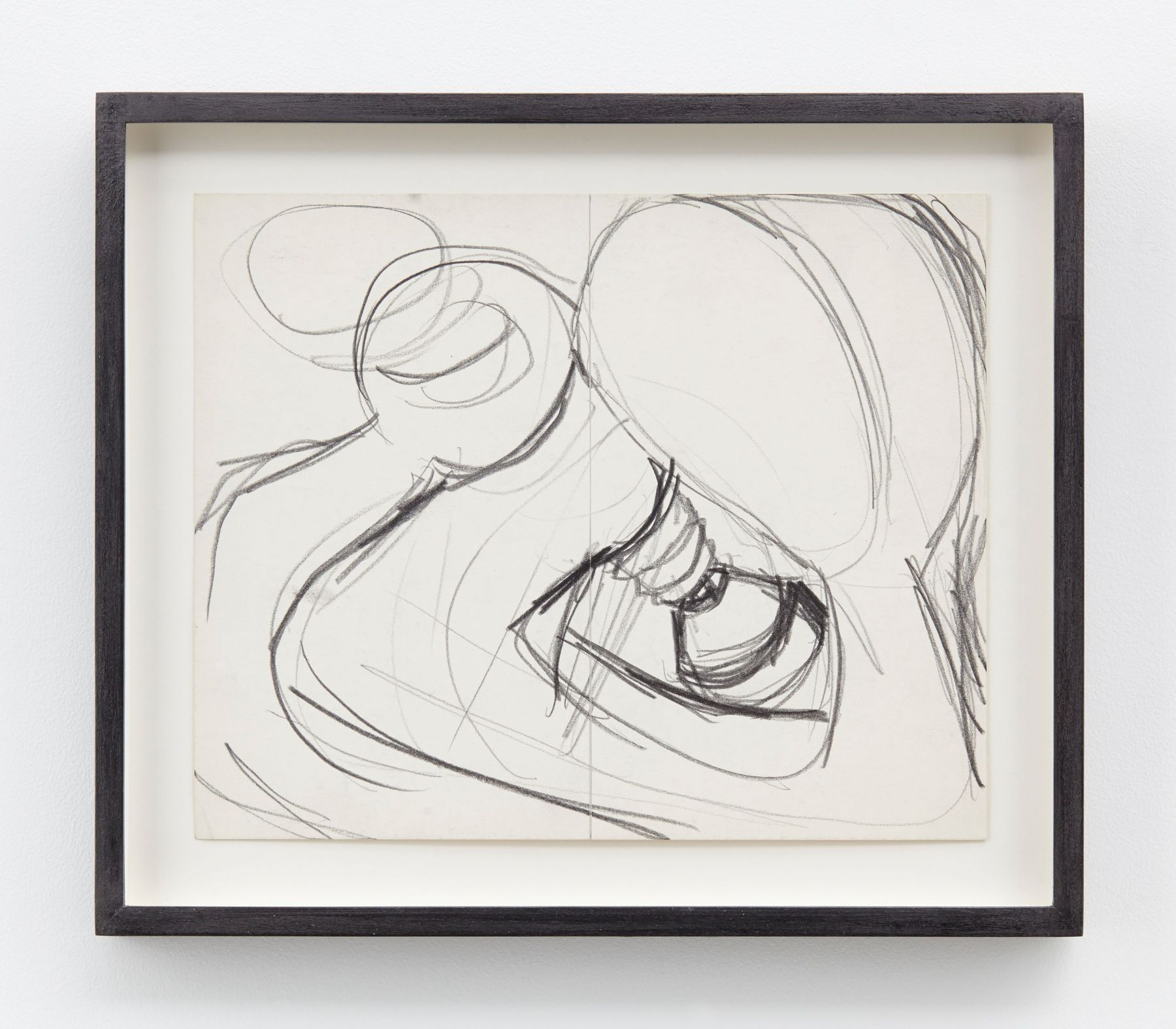 Lee Lozano, No Title, 1963-64, Graphite on paper, Paper: 8 1/2 x 10 1/4 inches (21.6 x 26 cm) Framed: 11 x 12 7/8 x 1 1/4 inches (27.9 x 32.7 x 3.2 cm)