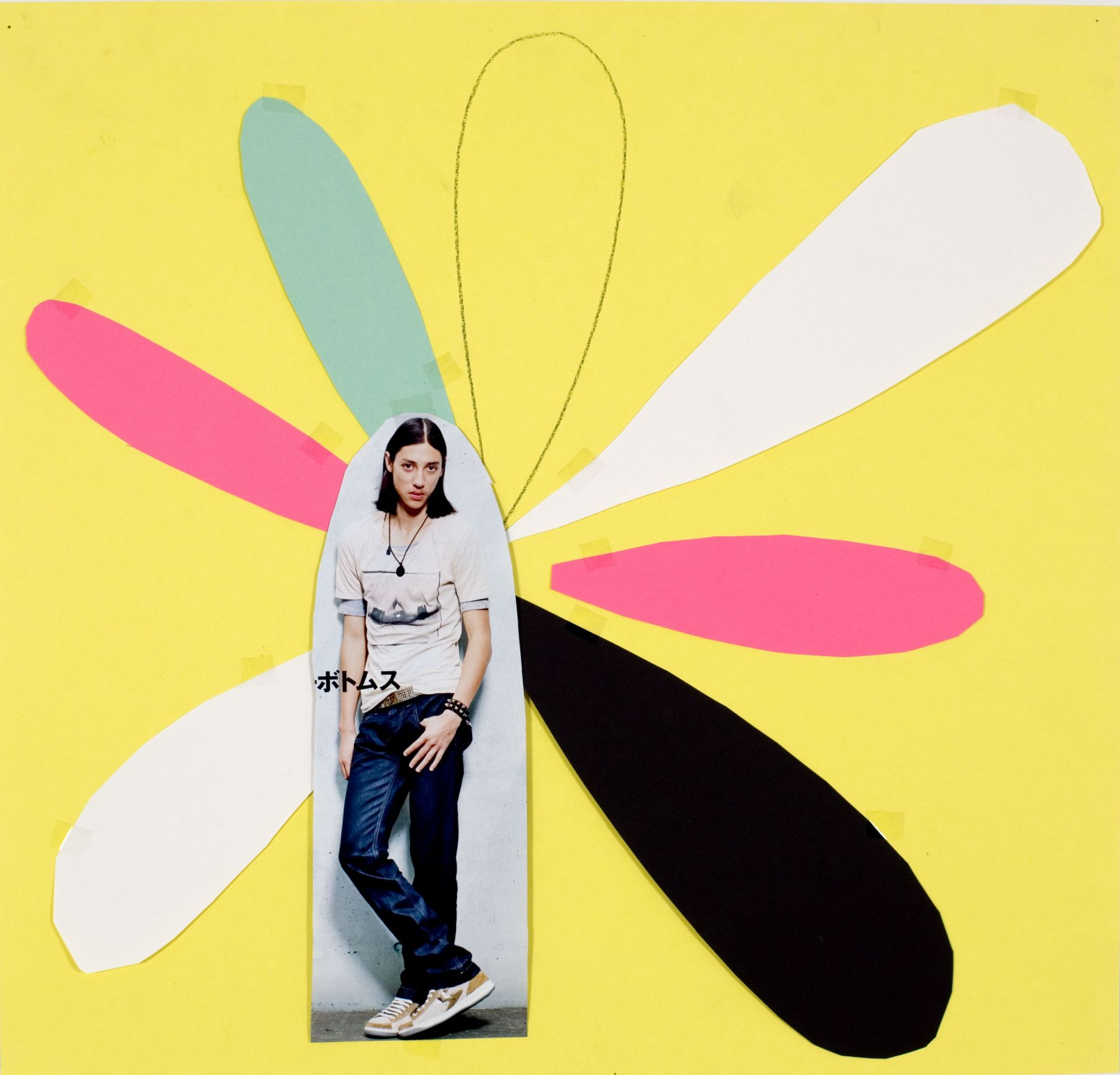 Dragonfly 8, 2009, collage, 19 3/4 x 20 1/2 inches
