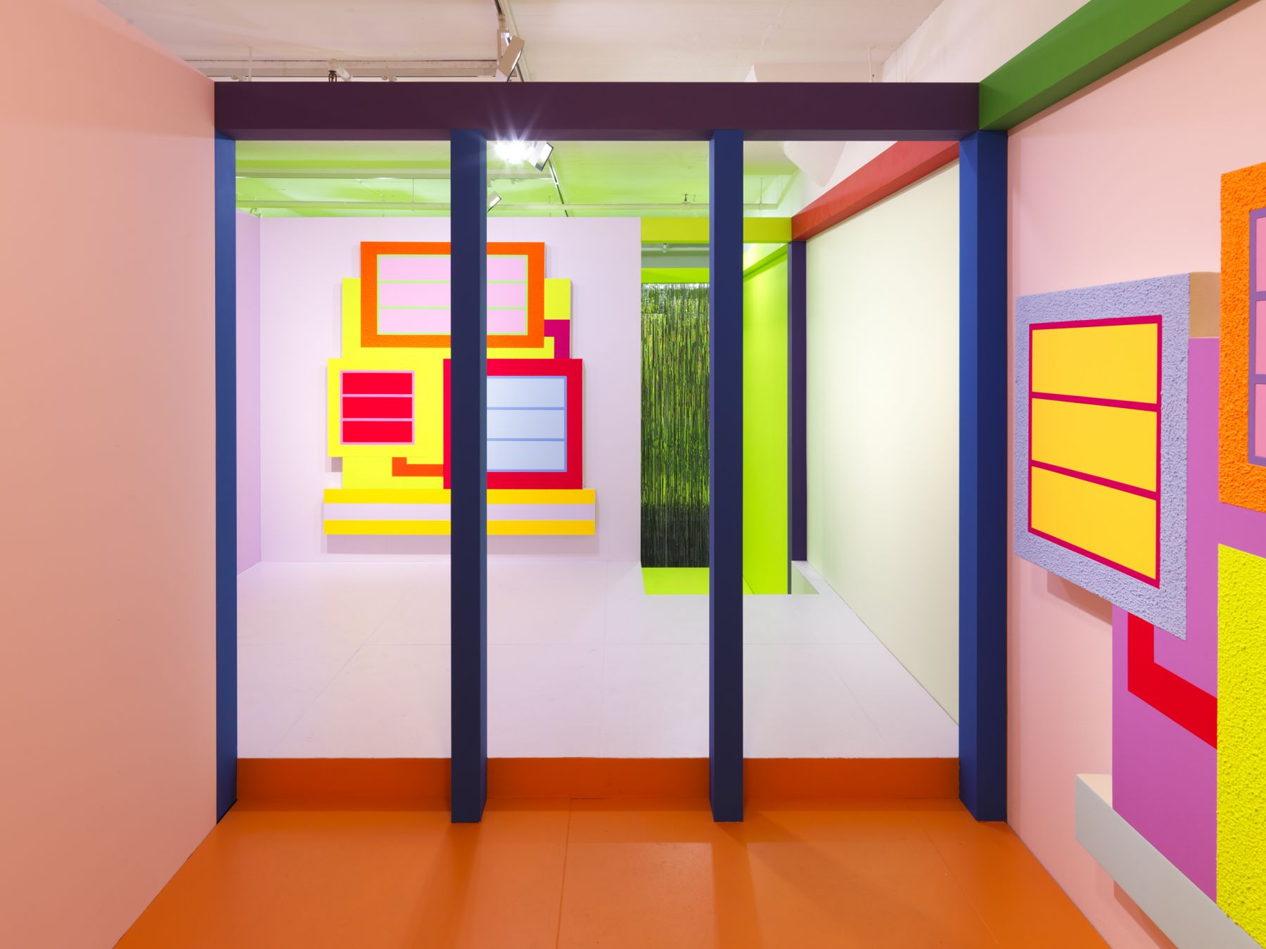 Peter Halley, Installation view, Heterotopia II, Greene Naftali, New York, 2019