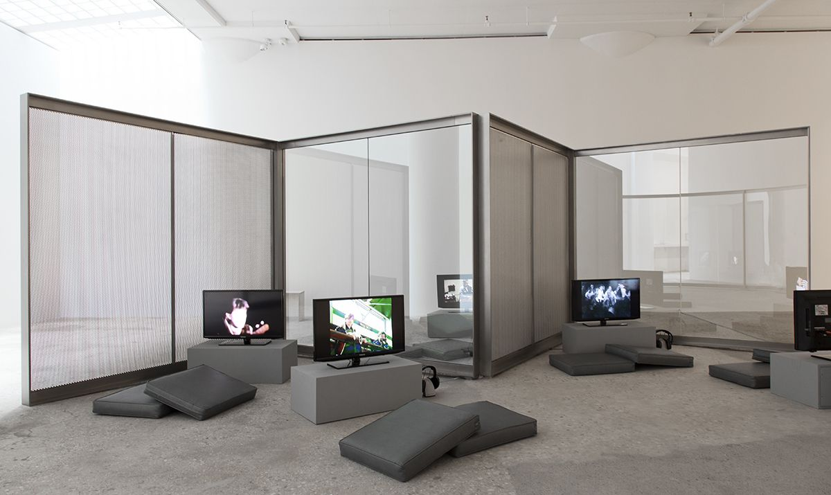 Installation view, Design for Showing Rock Videos, Greene Naftali, New York, 2014