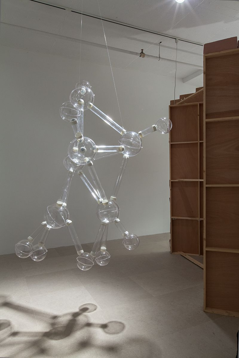 William Leavitt, Warp Engines, 2009, Mixed media installation with sound, 108 x 144 x 144 inches