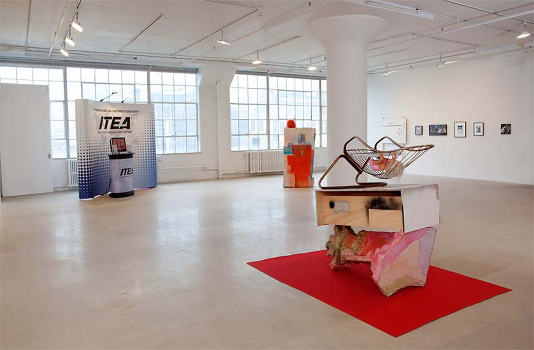 Installation view, ENTERTAINMENT, Greene Naftali, New York, 2012