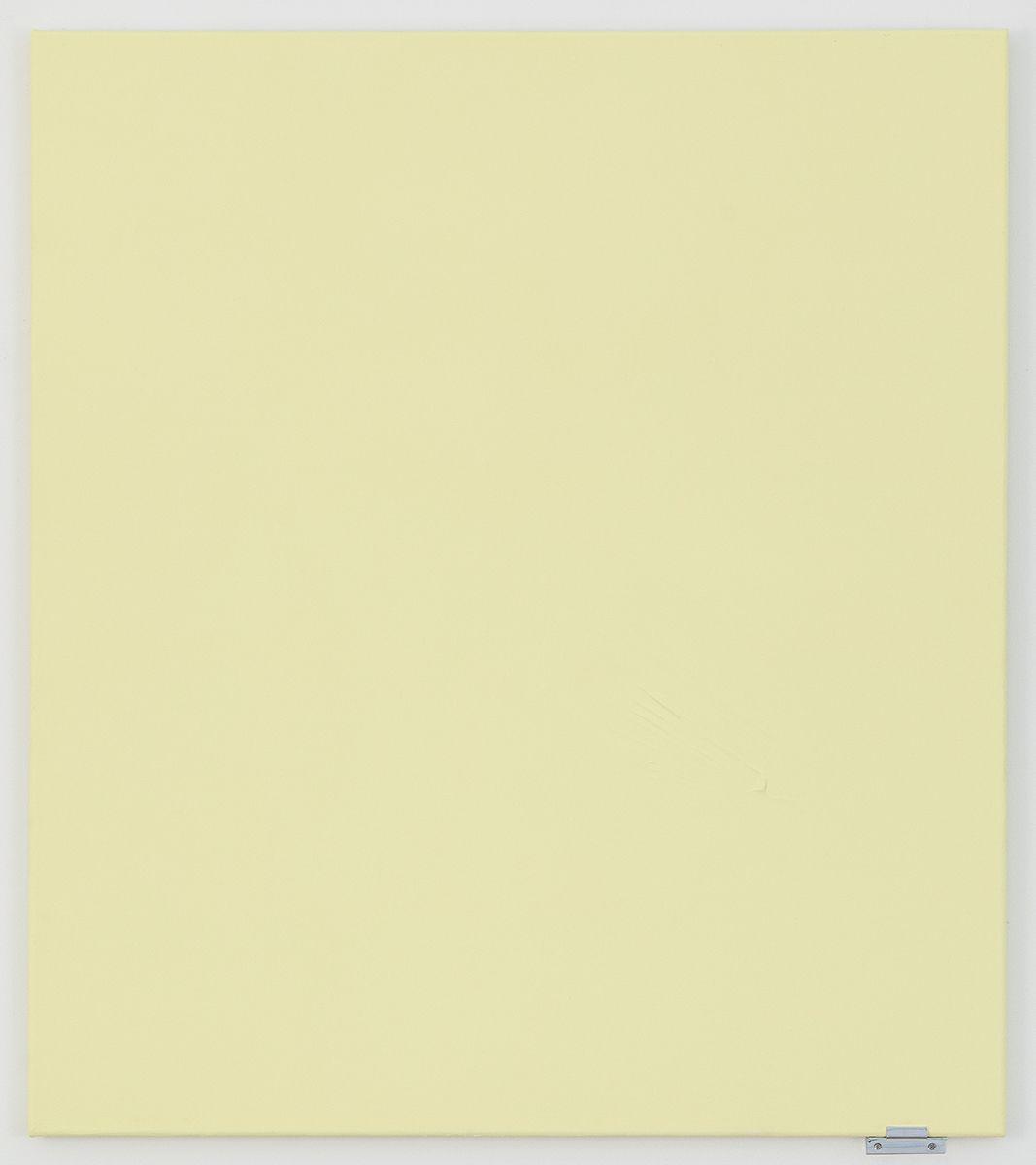 Monika Baer Untitled, 2018 Acrylic and quartz on canvas, aluminum  19 2/3 x 15 3/4 inches (50 x 40 cm)