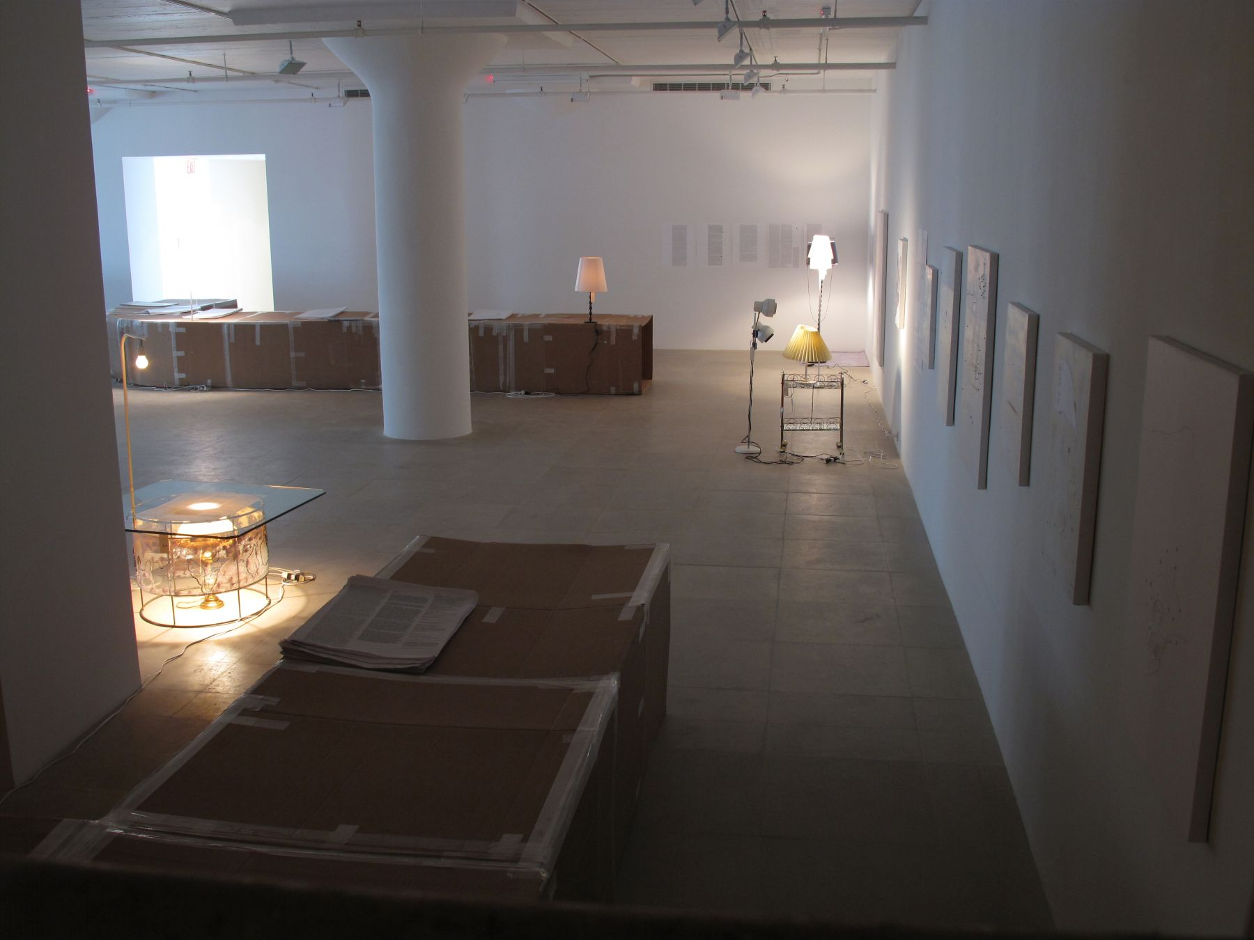 josef strau, Installation view, 18INIQITIES, Greene Naftali, New York, 2008