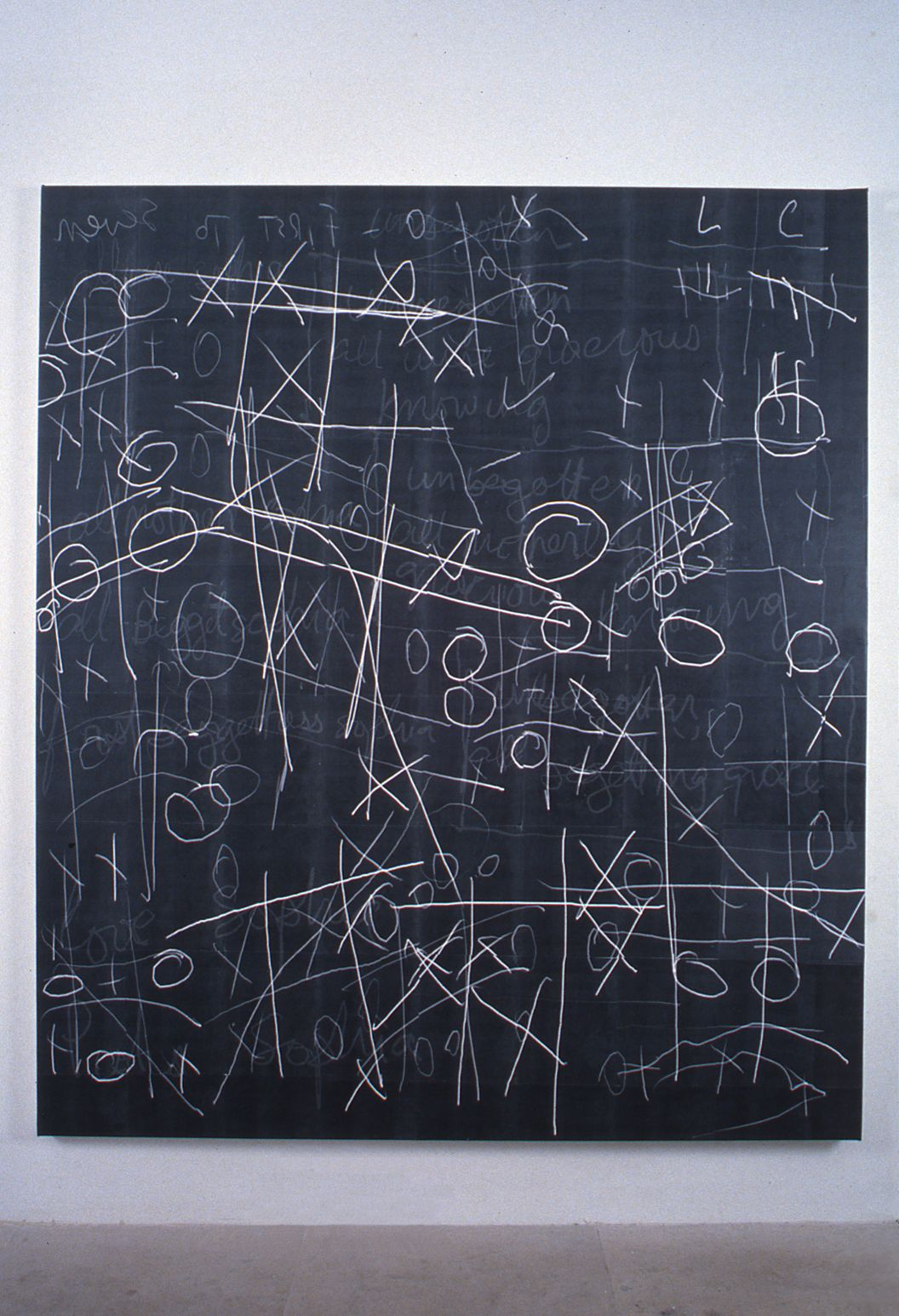 Luke Murphy, First to Seven, 1996, laser prints, acrylic mediums on canvas, 78 x 66 inches
