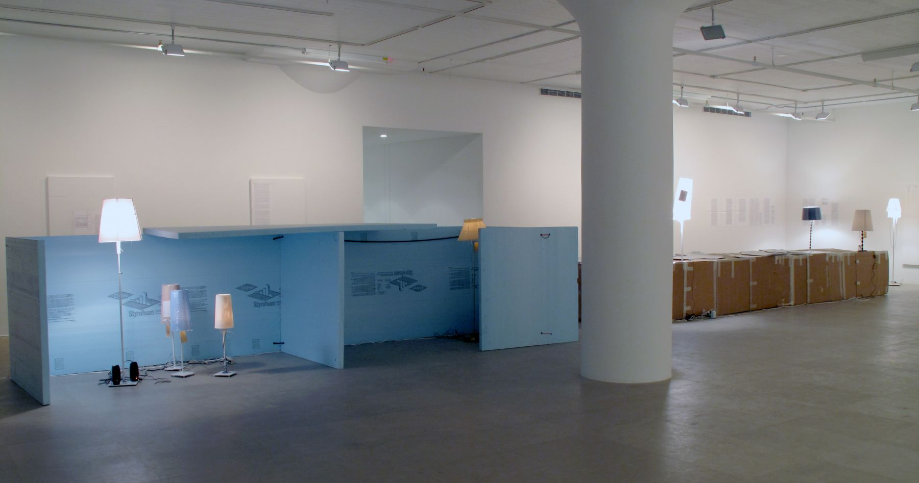 Installation view, 18INIQITIES, Greene Naftali, New York, 2008