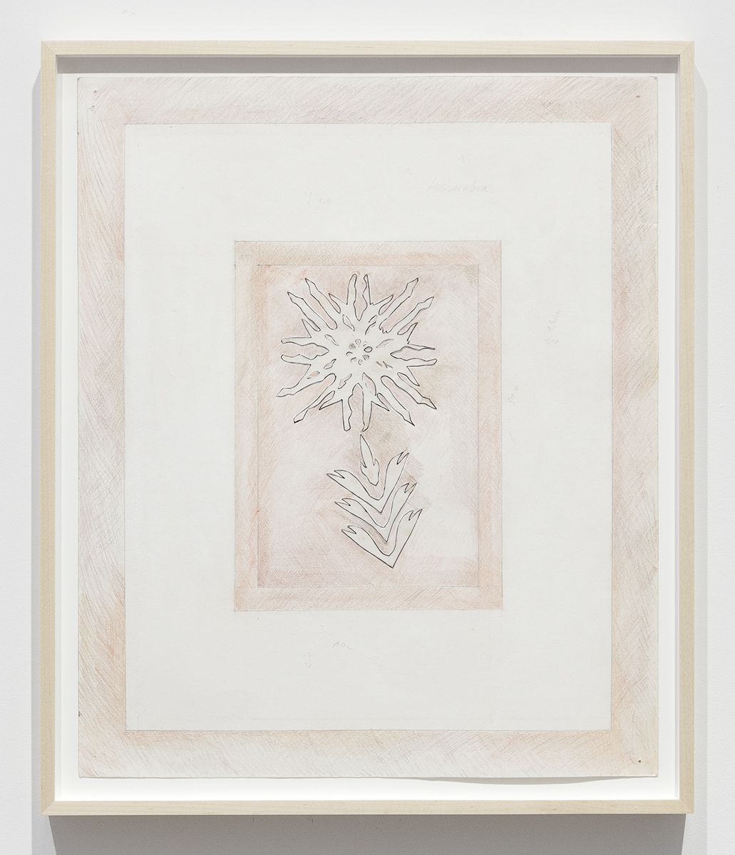 Katharina Wulff Untitled, 2014 Pencil, colored pencil, ink, transparent paper on paper Paper: 23 5/8 x 19 9/16 inches (60 x 49.7 cm) Frame: 26 x 22 x 1 1/2 inches (66 x 55.9 x 3.8 cm)