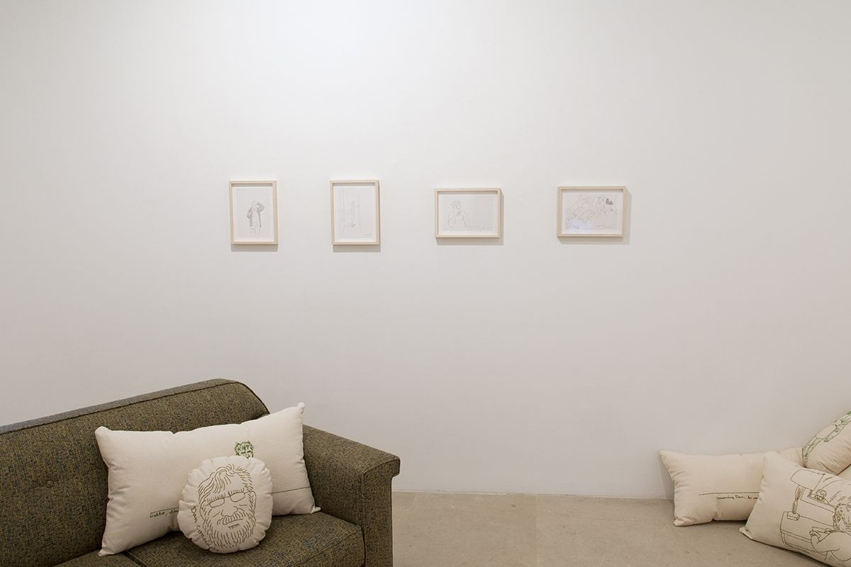 Mieko Meguro, Installation view,Couch Potato with Dan, Greene Naftali, New York, 2016