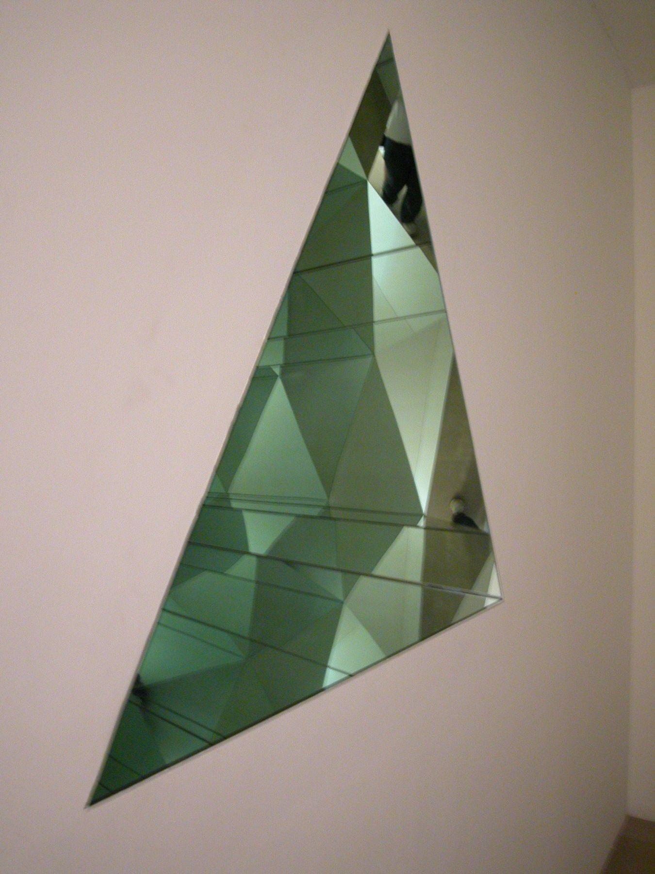 Jim Drain & Ara Peterson,  Untitled (Kaleidoscope), 2003,  mixed media installation,  kaleidoscope: 48 x 48 x 48 x 72 inches,  installation dimensions variable  Installation view, Greene Naftali, New York, 2003