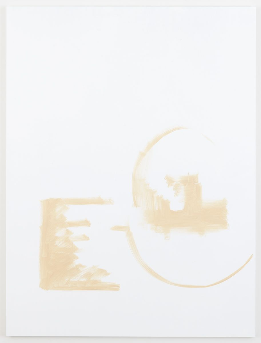 Michael Krebber Herbes de Provence MK.6063, 2018 Acrylic on canvas 78 x 59 inches (198.1 x 149.9 cm)
