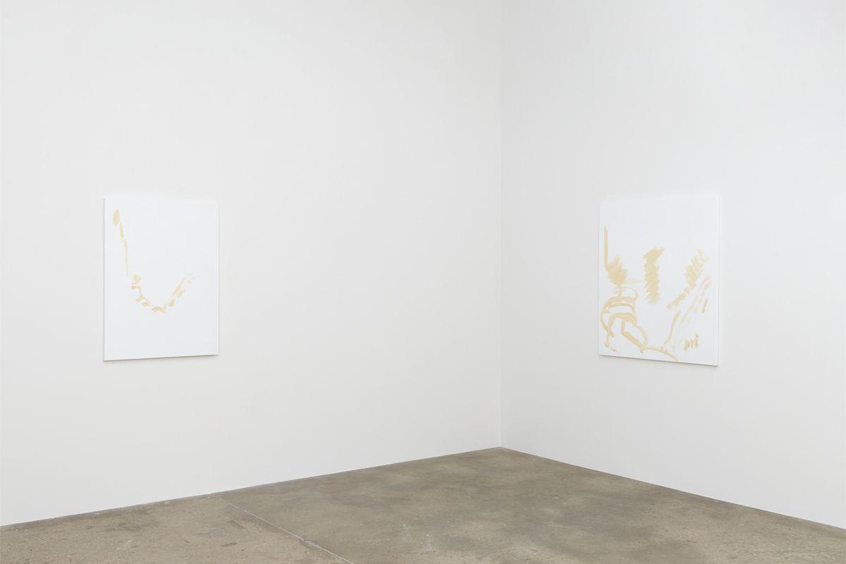 Michael Krebber, Installation view, Greene Naftali,2018