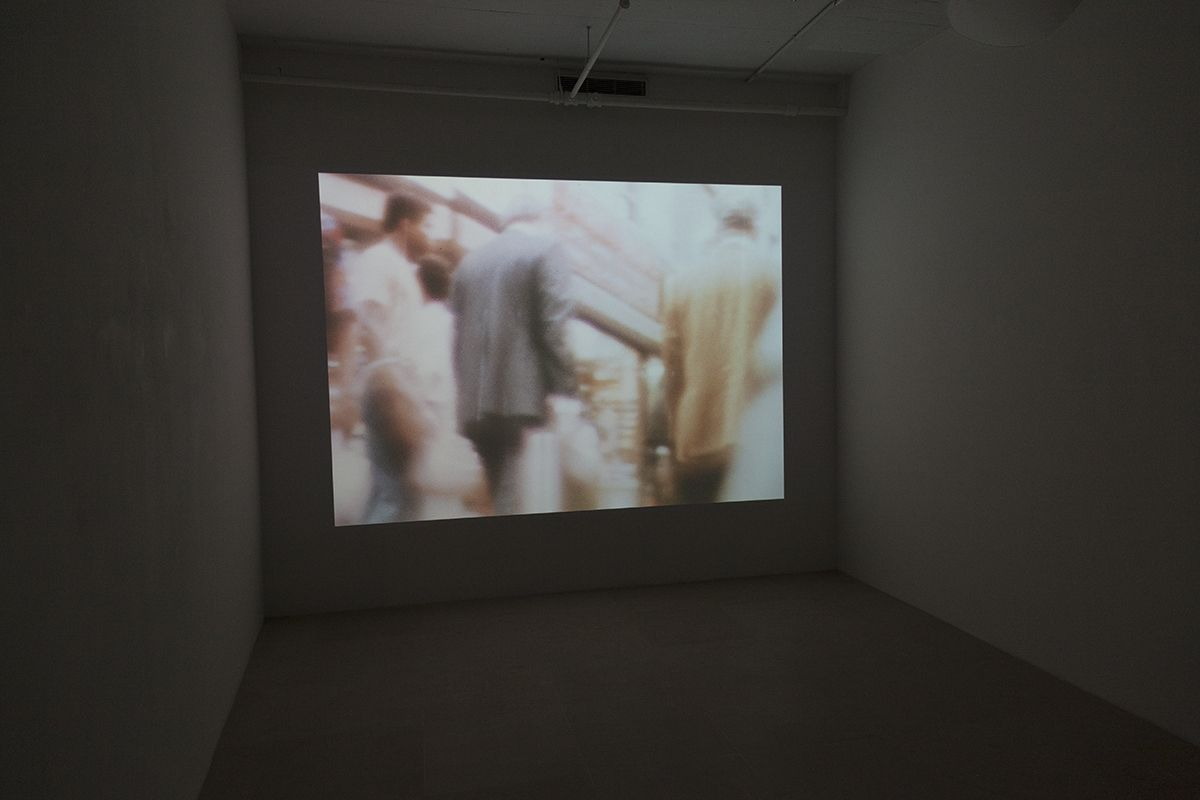 Tony Conrad  Loose Connection, 1972-2011  Super 8 to 16 mm/HD video  54 min, 54 sec  Installation view, Undone, Greene Naftali, New York, 2016