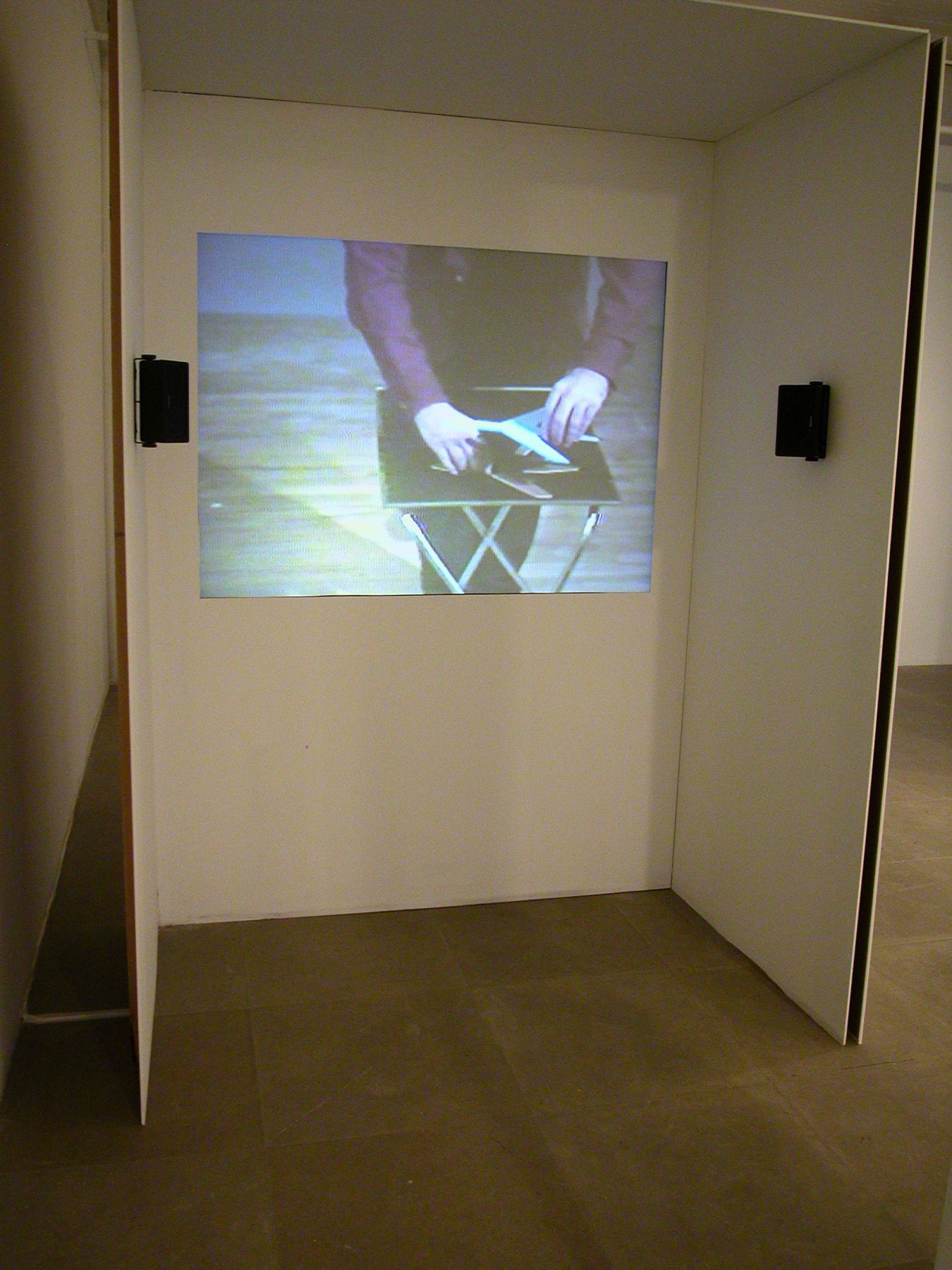 Stuart Sherman, 12th Spectacle (Language), 1980, video, Installation view, Greene Naftali, New York, 2006