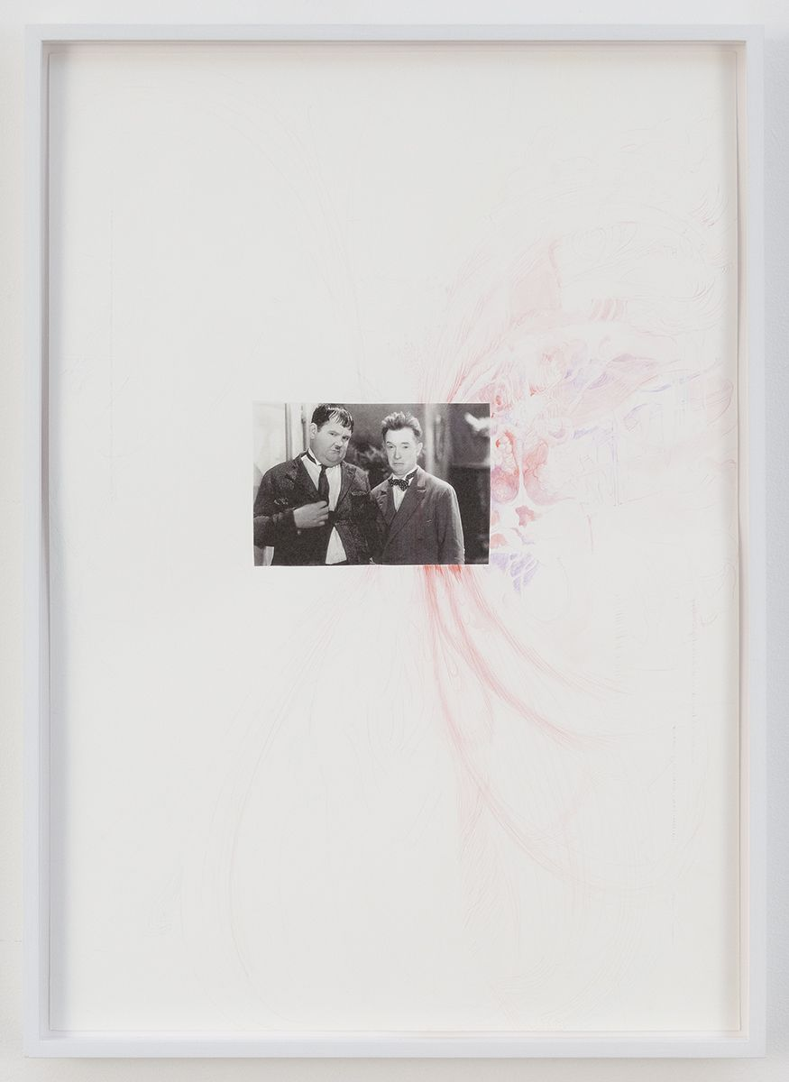 Monika Baer  Untitled, 2018  Photocopy and acrylic on paper  23 1/4 x 16 1/2 inches (59 x 42 cm)  MB.036