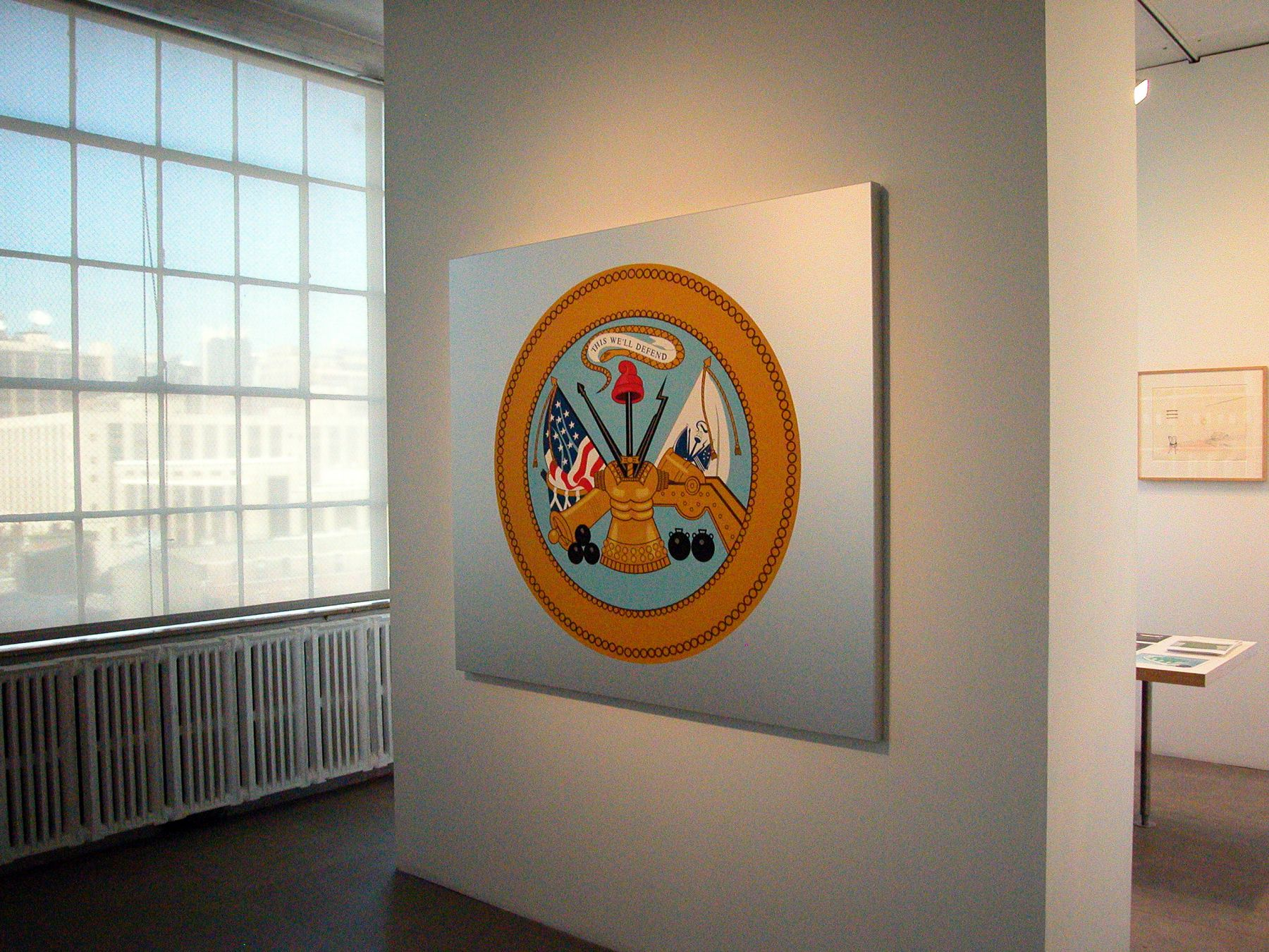 Untitled, 2005, silkscreen on aluminum, 55.12 x 62.99 x 2.17 inches, Installation view, Greene Naftali, New York, 2005