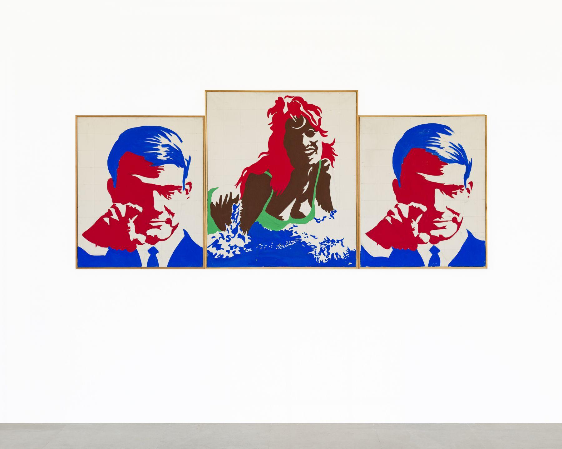Konrad Lueg BRD Triptychon, 1963
