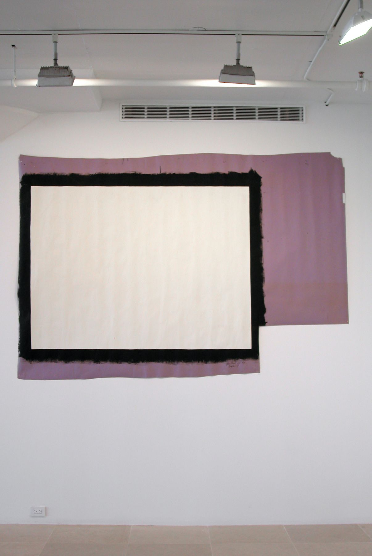 Tony Conrad  Yellow Movie 1/25-31/73, 1973  Emulsion: Gull white flat interior latex, Magicolor No. 3011 - 11  Base: Lilac seamless paper  73 x 130 inches