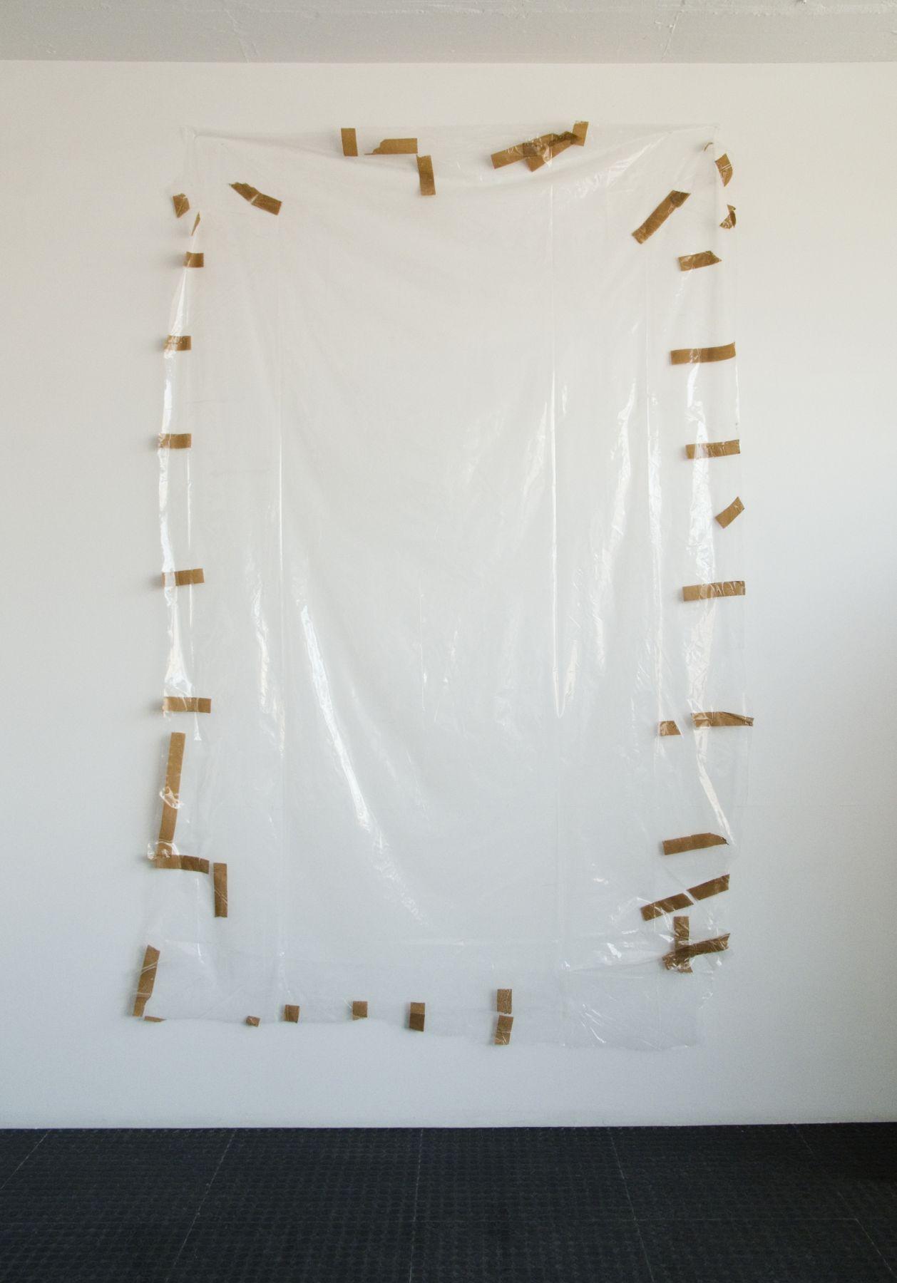 Gedi Sibony If, 2008 Plastic, tape 115 x 77 inches 292.1 x 195.58 cm