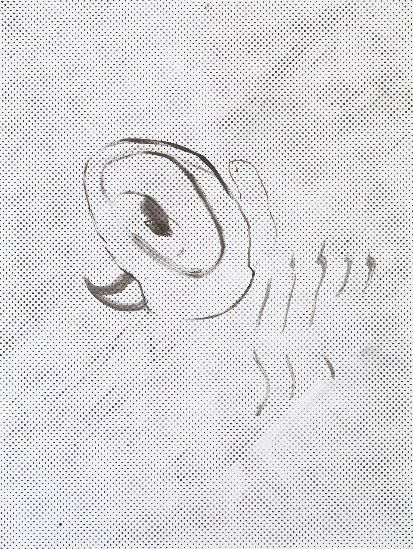 Michael Krebber MK.283, 2015 Lacquer on canvas 78 3/4 x 59 1/8 inches (200 x 150.2 cm)