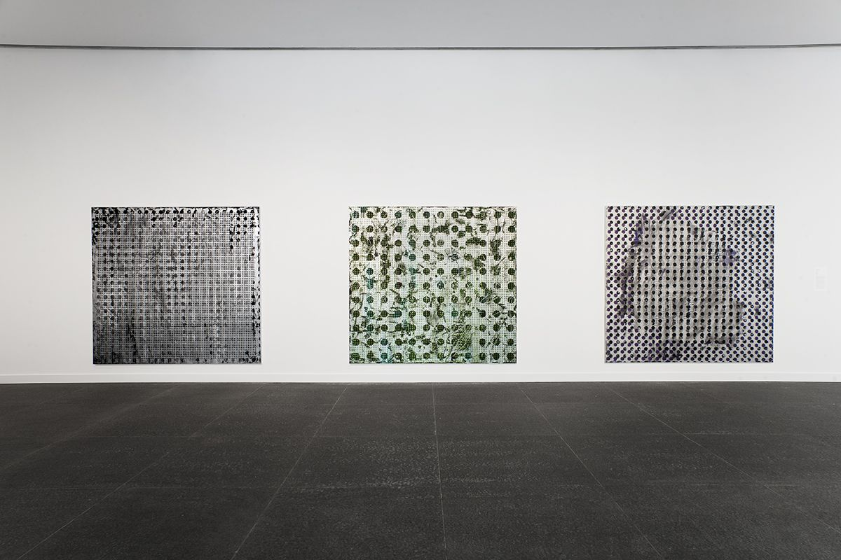 Installation view, Jacqueline Humphries, Carnegie Museum of Art, Pittsburgh, MA, 2015