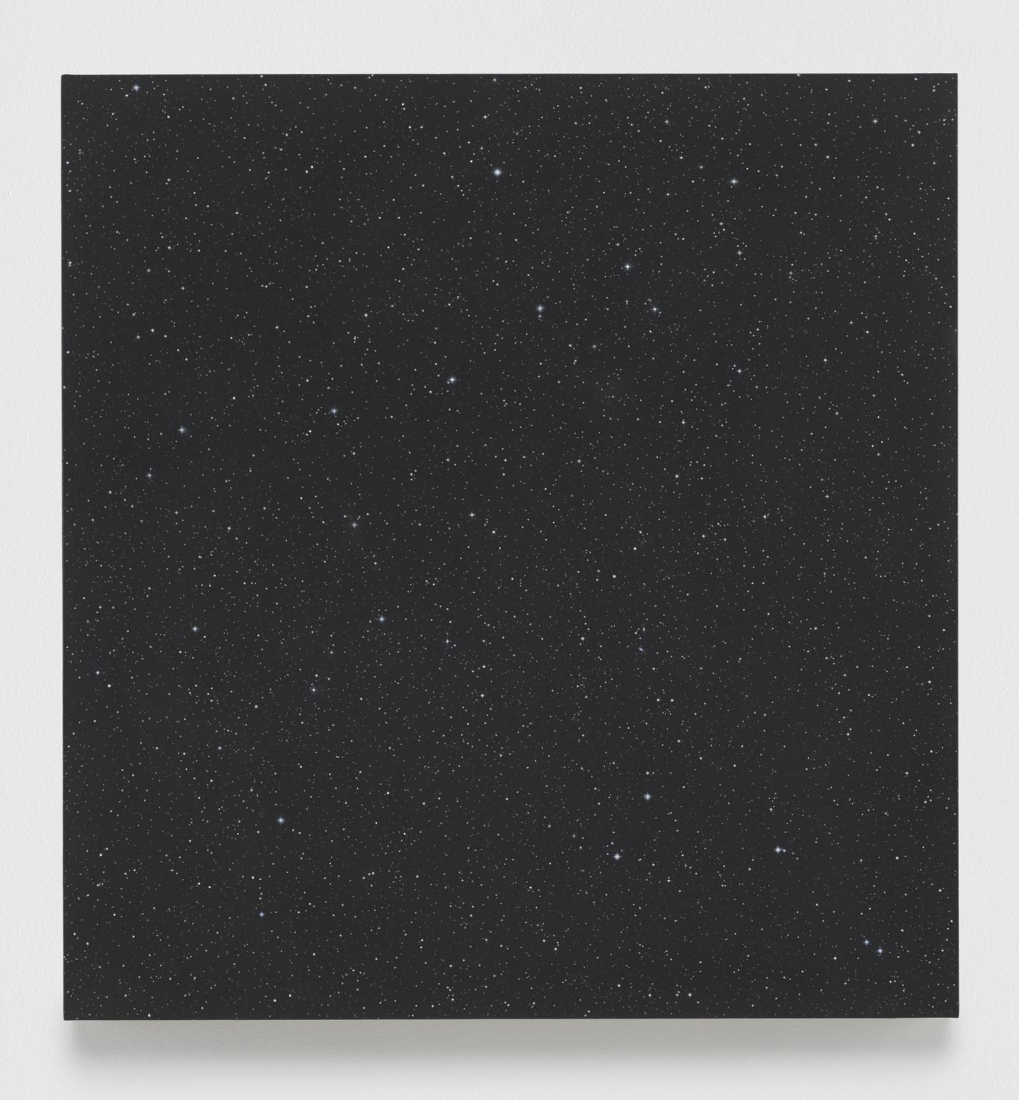 Vija Celmins  Night Sky #24, 2016  Oil on canvas  33 3/4 x 32 inches (85.7 x 81.3 cm)
