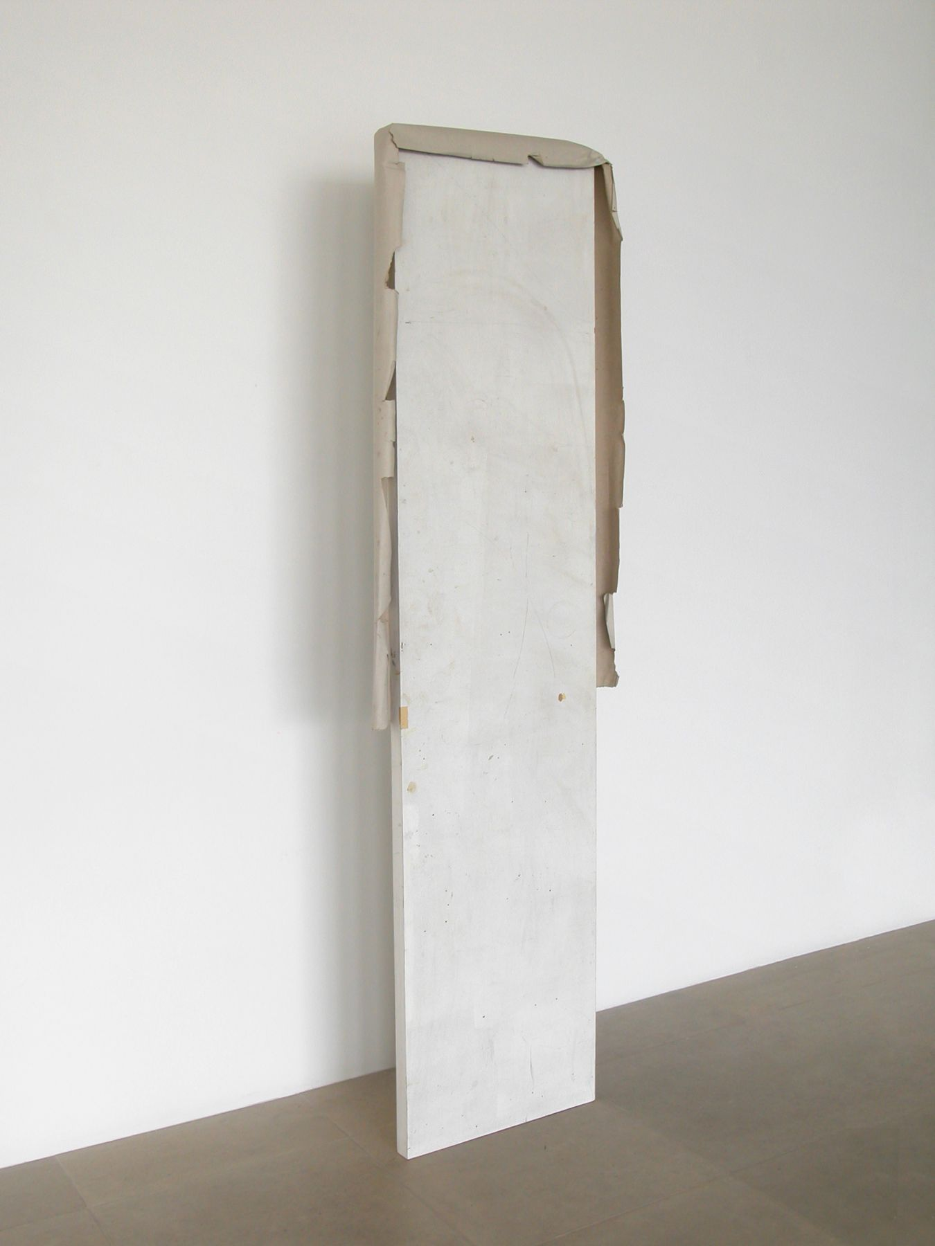 Partly Me Manners, 2008, Door, paper, 88 x 24 x 4 inches
