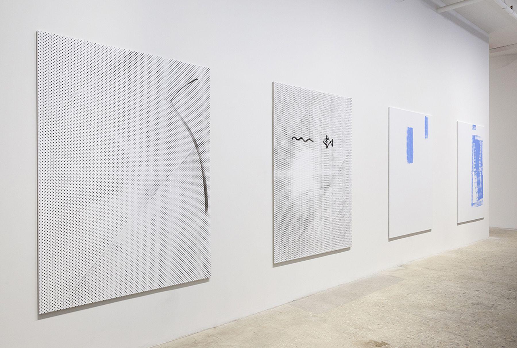 Michael Krebber, Installation View, Ground Floor, Greene Naftali, New York, 2015